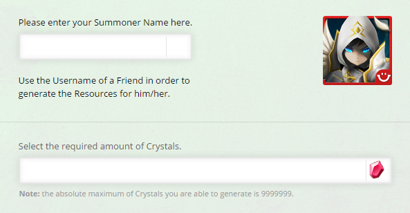 Summoners War Crystals Online Cheat